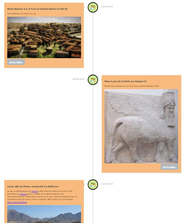 Vignette de l'actualité Modification du design des actualités du site sur la page d'accueil