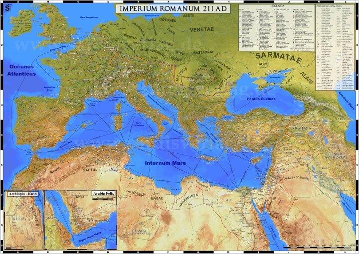 Vignette de l'actualité Une carte très détaillée de l'empire <a class='hom' href='http://aleph2at.free.fr/index.php?art=2196'>romain</a>  <a class='date'>en 211 de notre ère</a>
