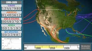 Vignette de l'actualité Animated map shows the history of immigration to the US