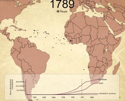 Vignette de l'actualité Une carte animée du commerce des esclaves